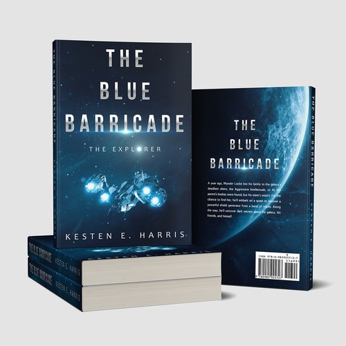 The blue barricade