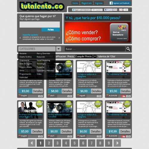 Create the next website design for tutalento.co