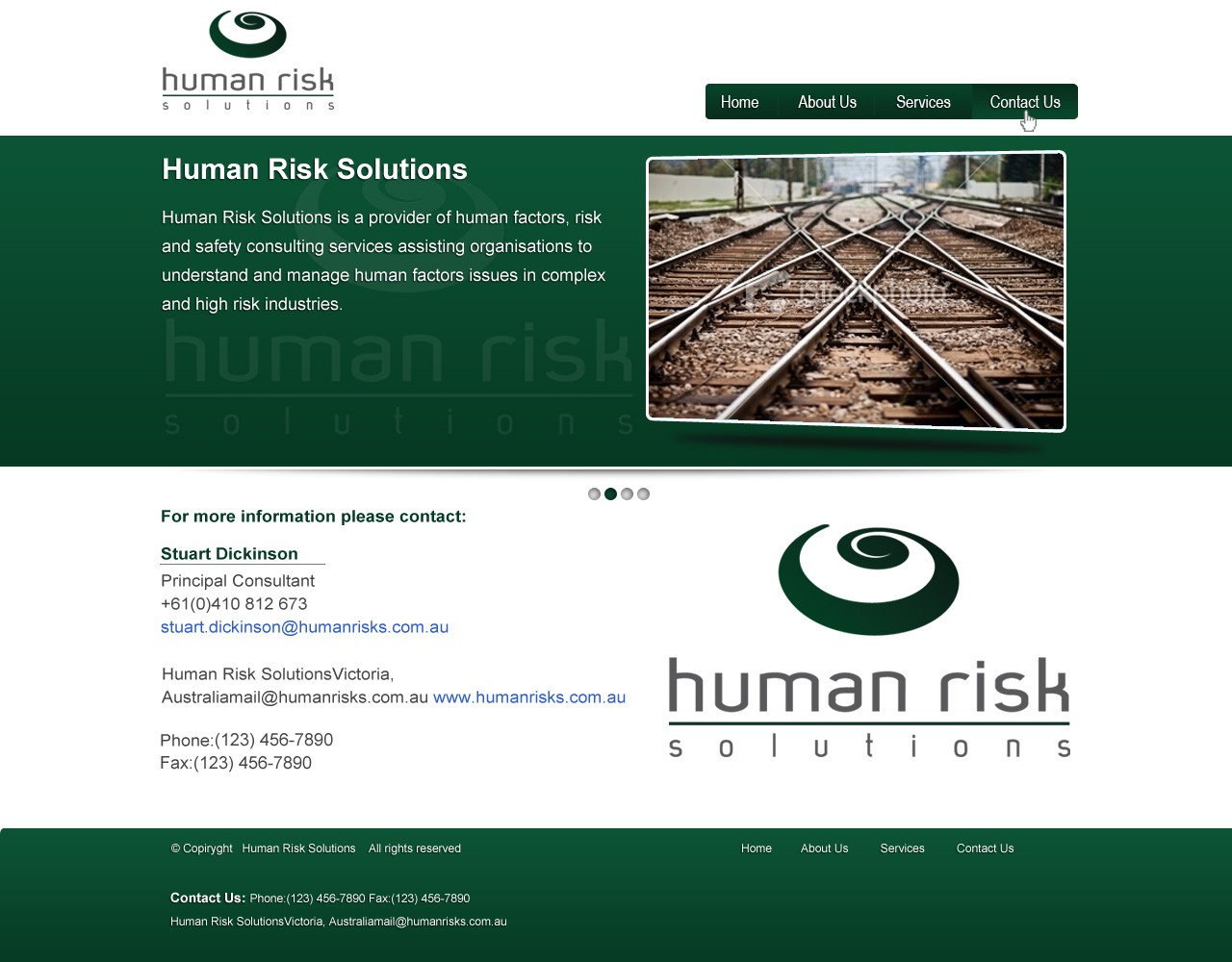 Create the next website design for Human Risk Solutions