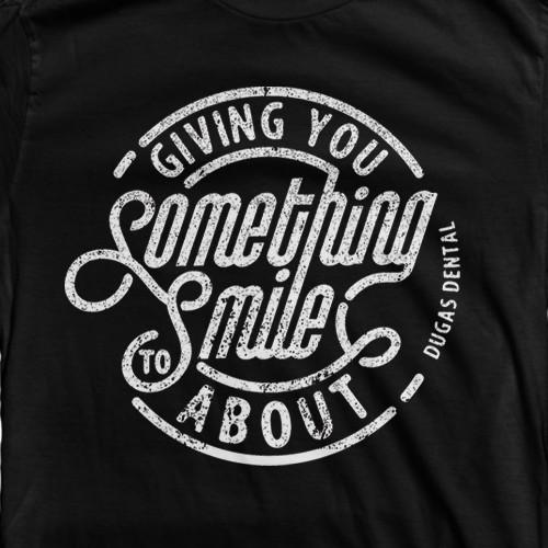 T shirt design for a fun, modern dental office