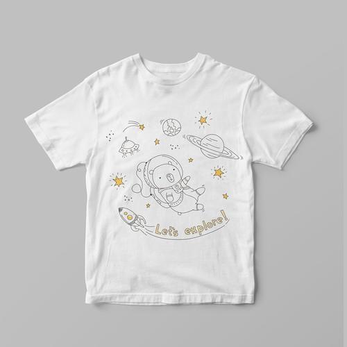 Design for boy's t-shirt.