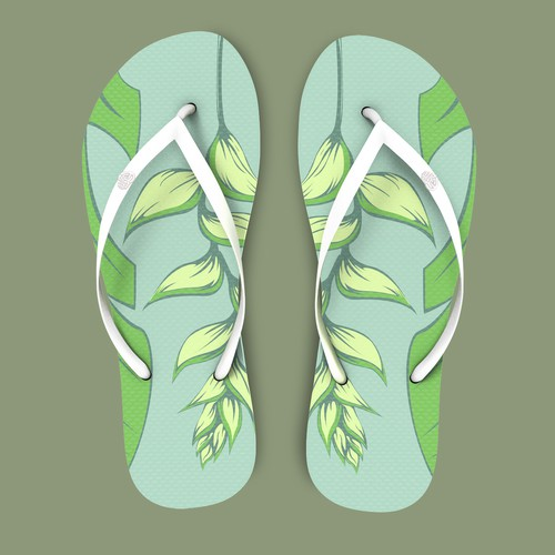 ornamental banana flower for the flip flop