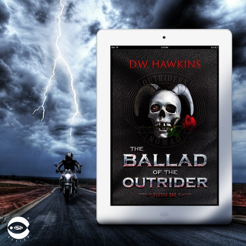 "eBook Cover for ""The Ballad of the Outrider"" by D.W. Hawkins"