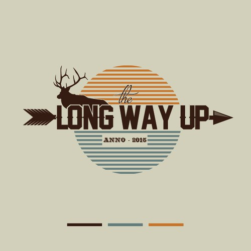 """""""The Long Way Up"""" - A Colorado Elk wilderness bowhunting film VINTAGE STYLE LOGO."""