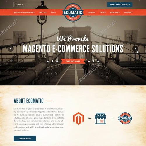 "winning web design for Magento ecomerce ""Ecomatic"""