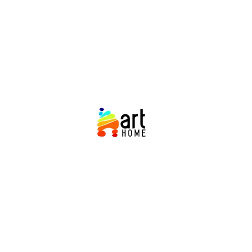 Logo concept for a business that sells paintings to homes