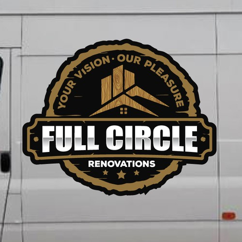 """Classic Craftsman-style logo for """"Full Circle Renovations"""""""