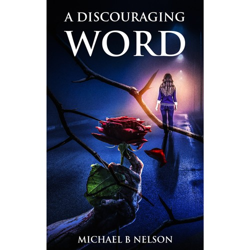Book cover design for A discouraging word
