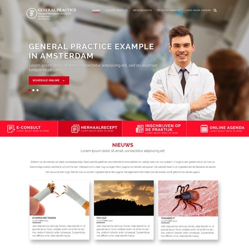 Modern Design For Medical Website Profile