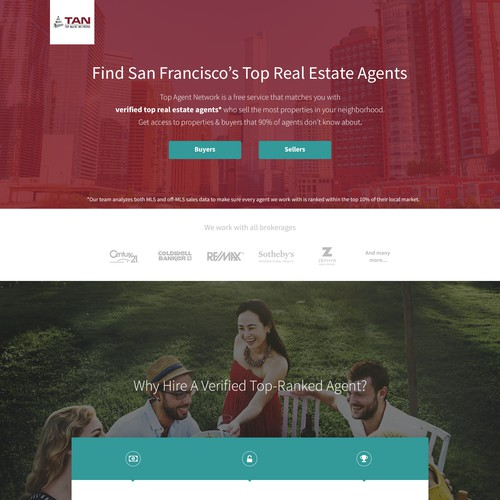 Modern Landing Page for Online Real Estate Community