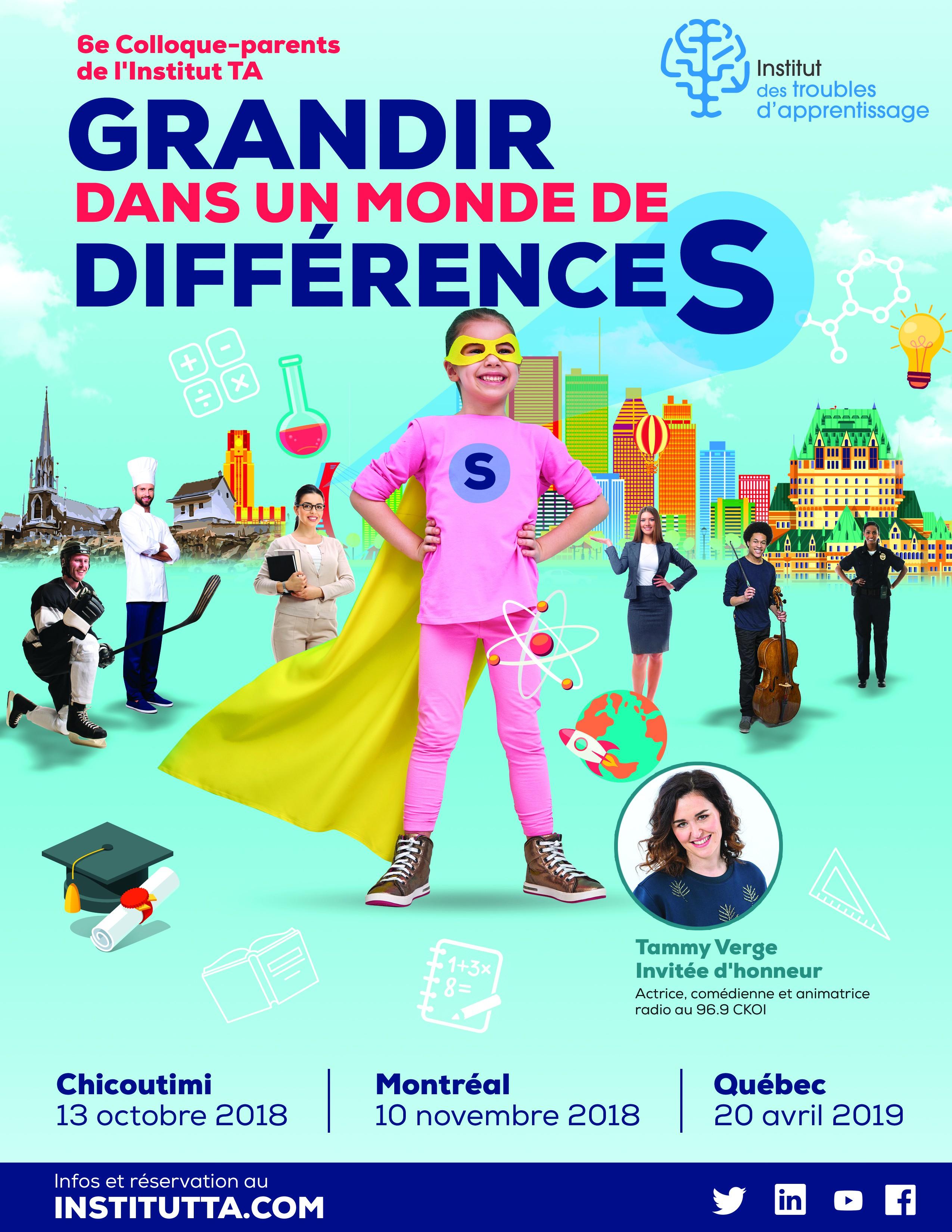 Amazing poster for Event  : 6e Colloque-parents de l'Institut TA