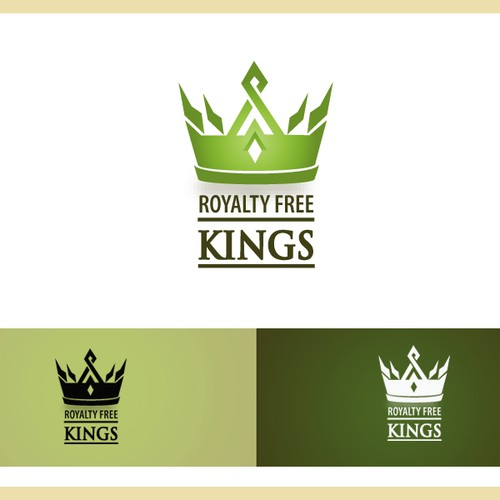 Logo for new music website: Royalty Free Kings