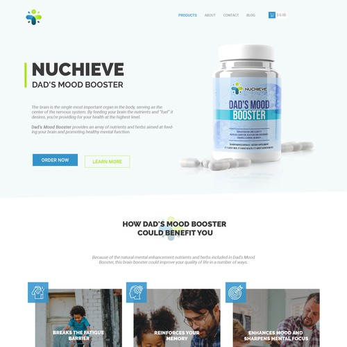 Revolutionary Landing page for supplements