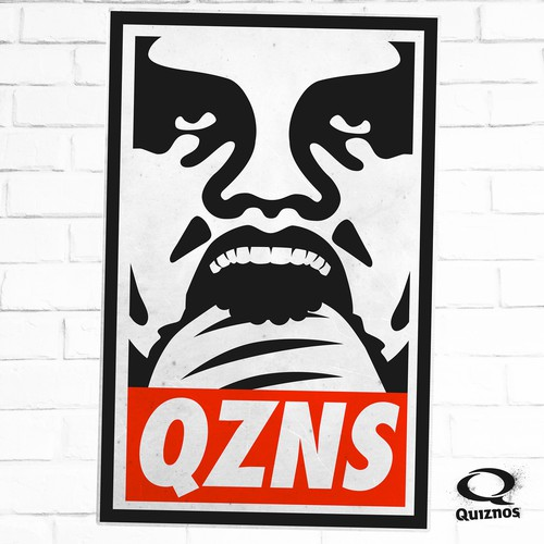 Quiznos Iconic Art Style Monthly Calendar Page