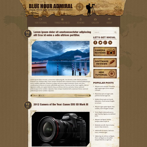 Help Blue Hour Admiral with a creative website