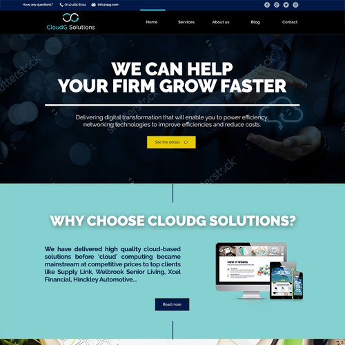 Cloud Solutions IT Website Design