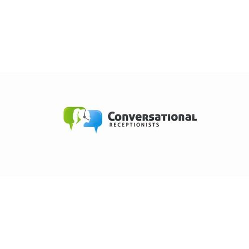 Friendly Receptionists   Conversational.com - Logo Design - Good Luck!