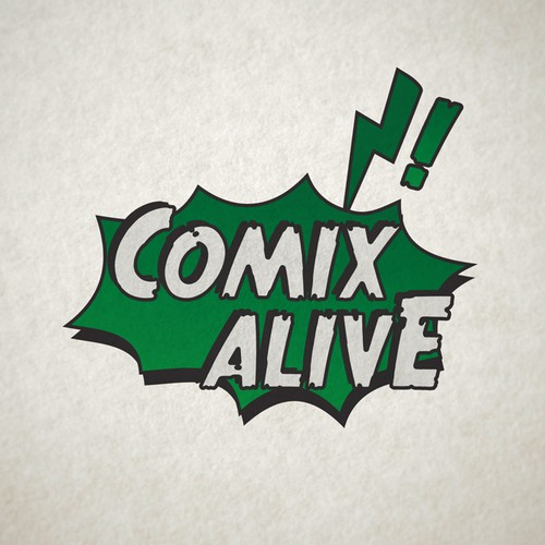 Create a high impact logo for Comics Alive