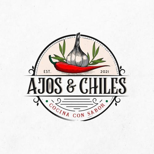 Create a logo for a Spicy and Tasty food restaurant
