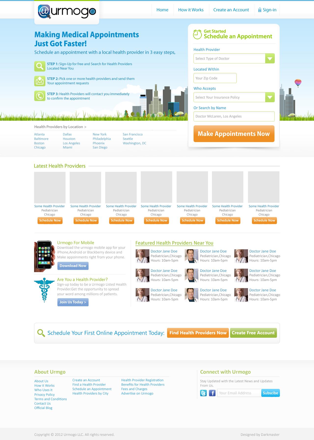 Urmogo needs a new website design