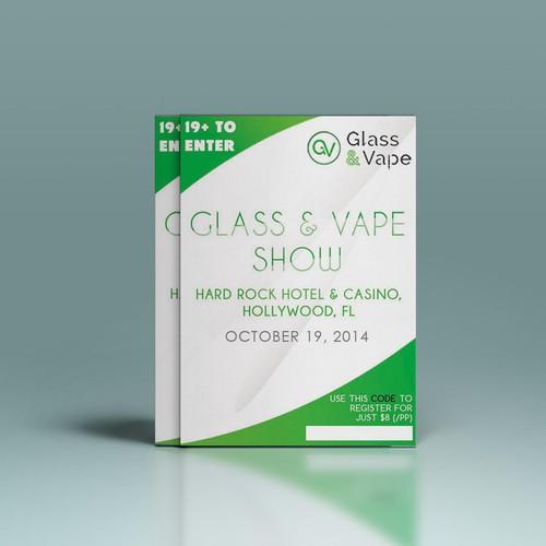 Flyer for Expo/Trade Show - Glass & Vape Show