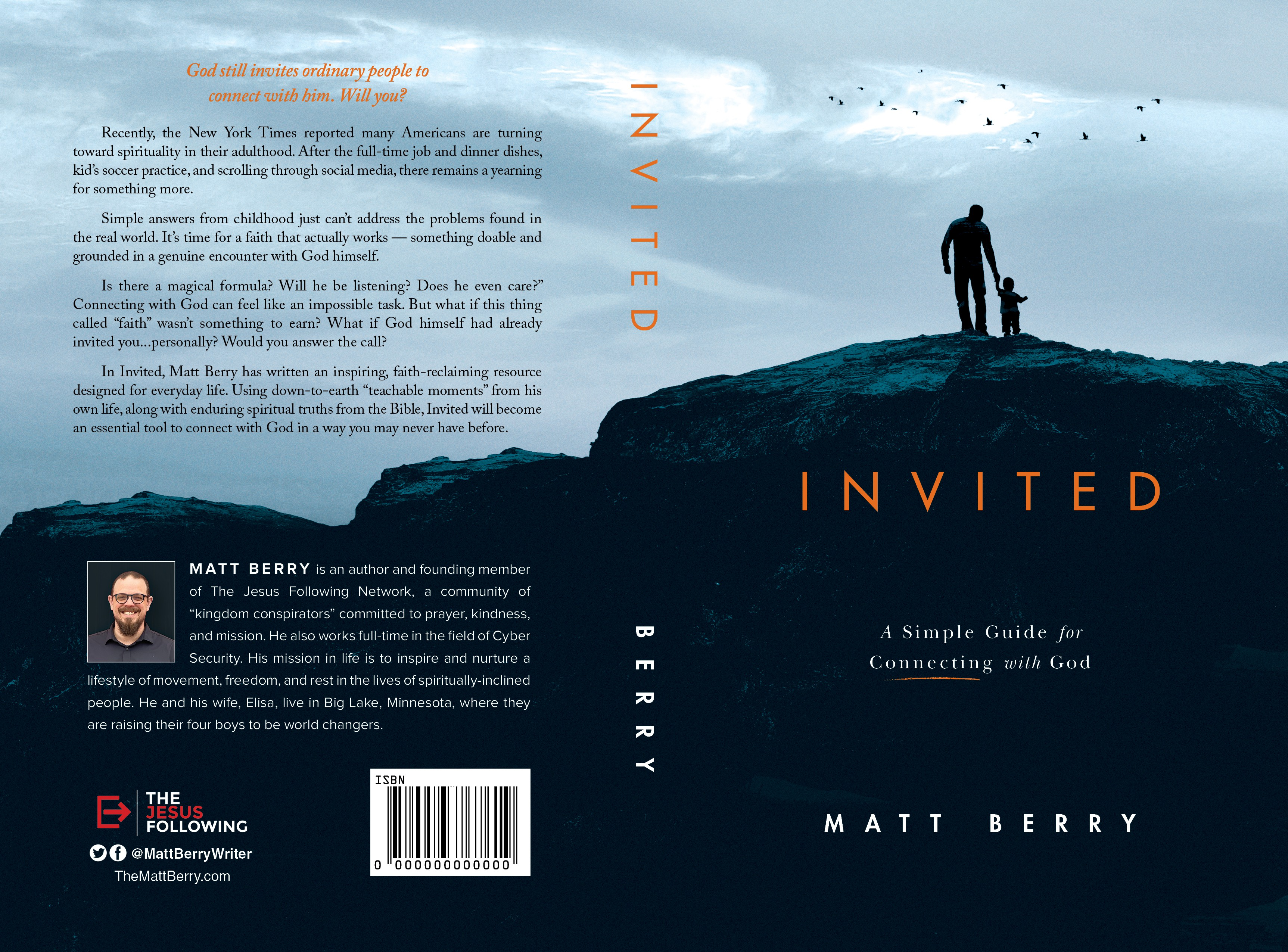 Cover design for inspirational book. Join my team. Let's make some waves.