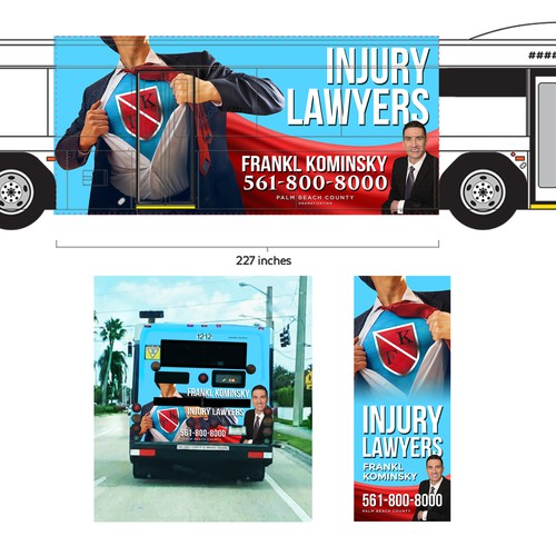 Bus Wrap Design for a Law Firm