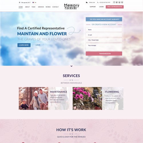 Memory Forever Web Site Design