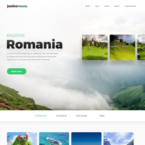 Justice Travel design concept entree