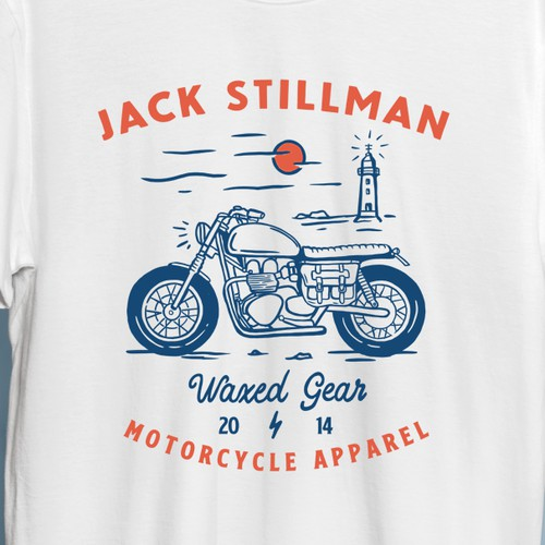 Motorcycle apparel t-shirt design