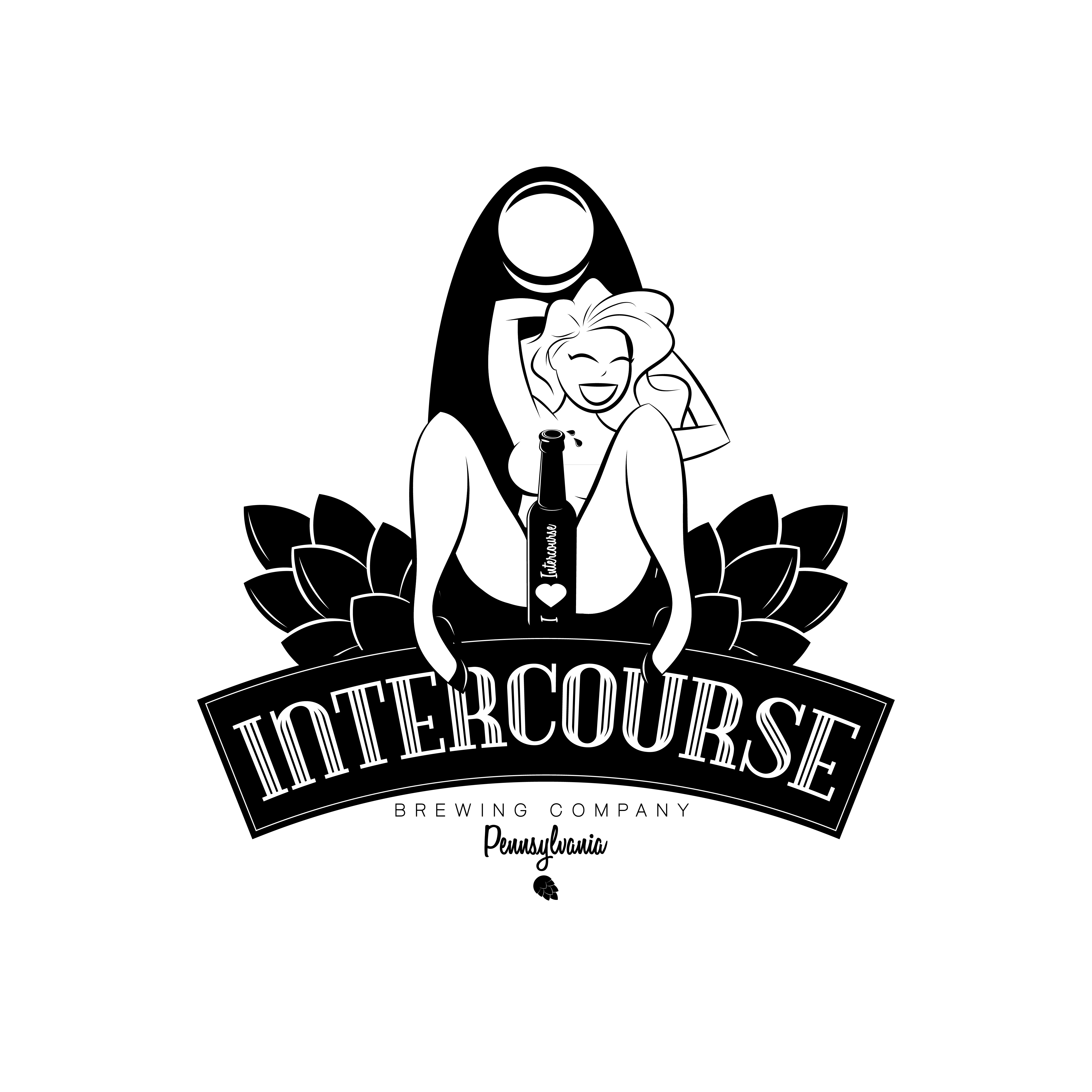 create a powerful sexually risky pin up logo for Intercourse Brand!