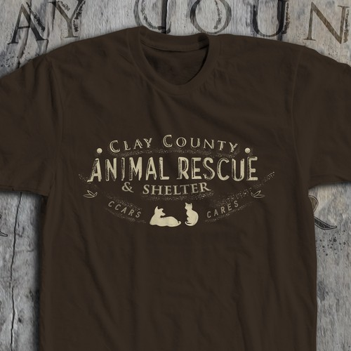 Retro T-shirt for a compassionate animal shelter