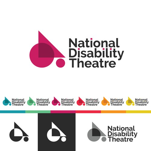 Bold logo concept for National Disability Theatre.