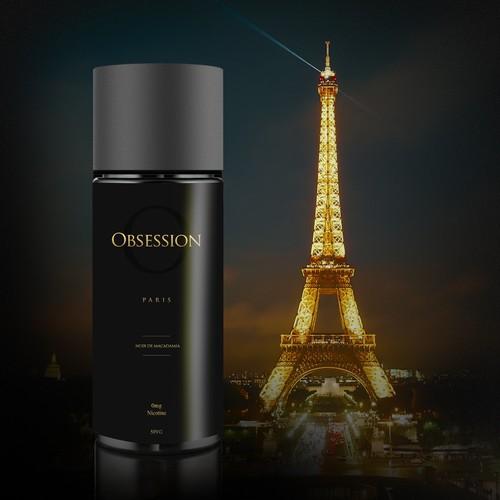 Premium Luxury & Classy Label Design for 'Obsession' Paris