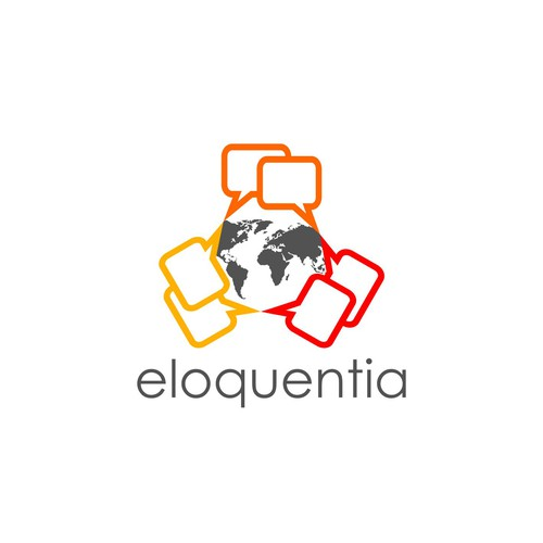 Design an elegant global logo for eloquentia