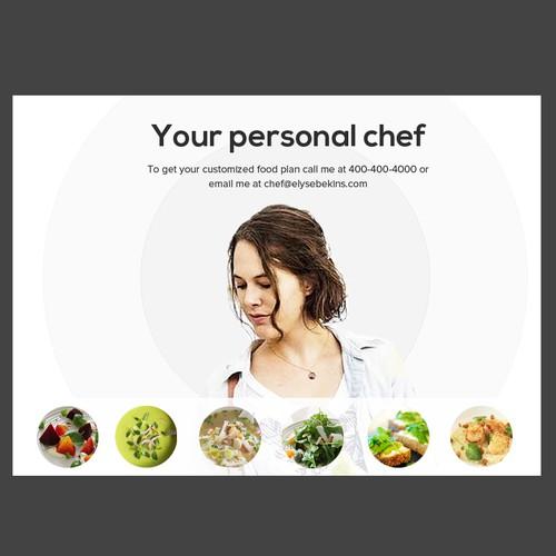 personal chef postcard design