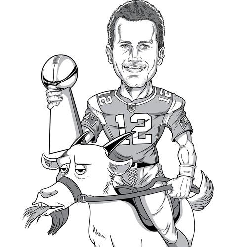 Mr. Brady riding a goat