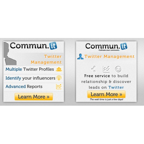 Create the next banner ad for Commun.it
