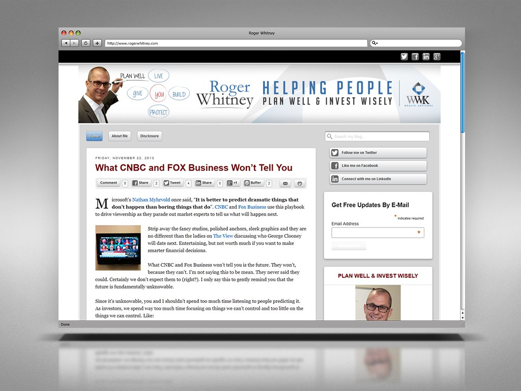 Create a website header and help people make smarter financial decisions