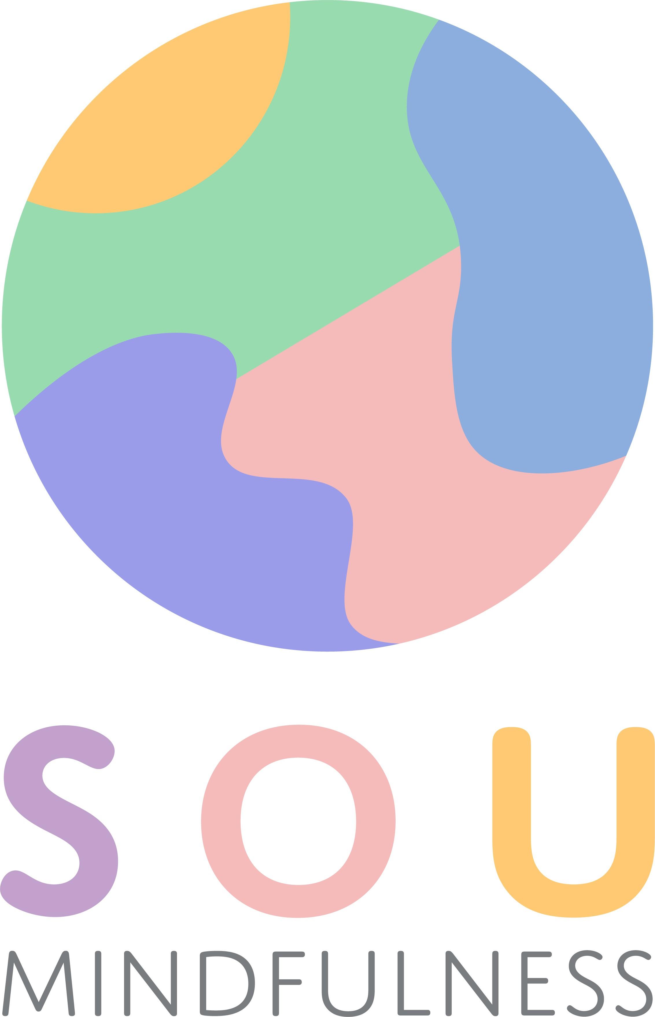 Modern brand assets for meditation and emotional balance workshops