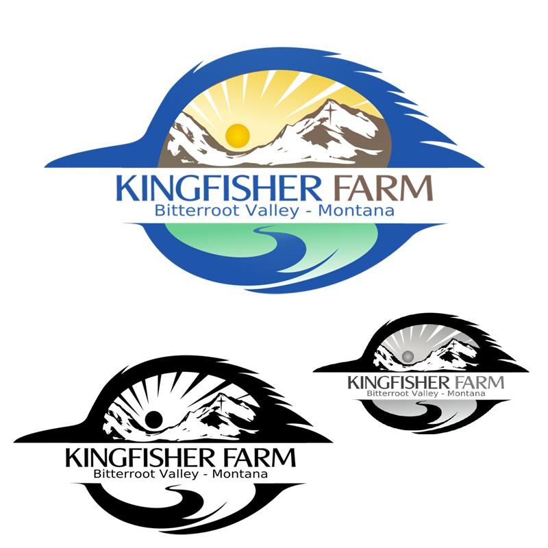 Create the next logo for Kingfisher Farm