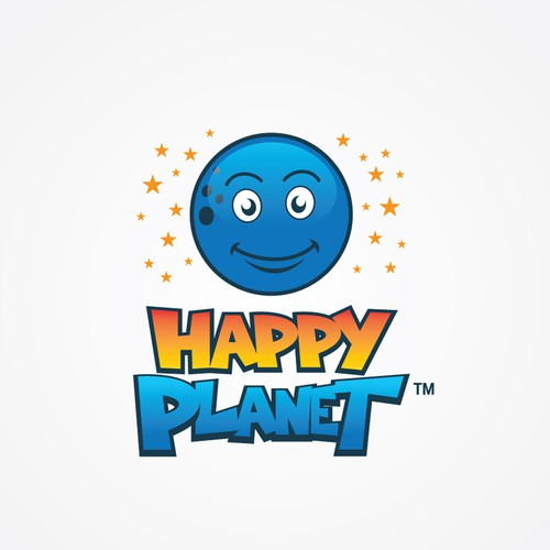 Logo entry for Happy Planet logo contest.