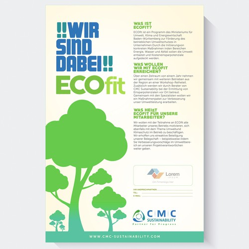 Create a poster for a sustainability project