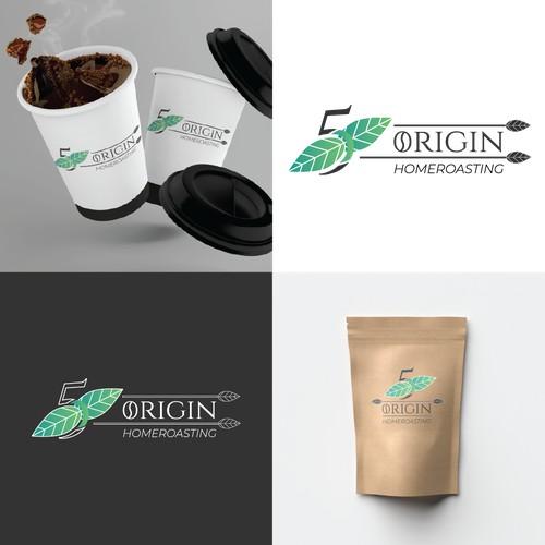 Logo concept for a coffee homeroasting company