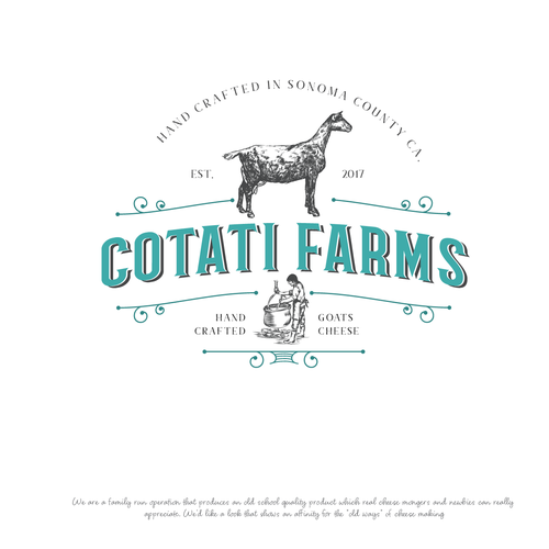 Goat farm Logo design