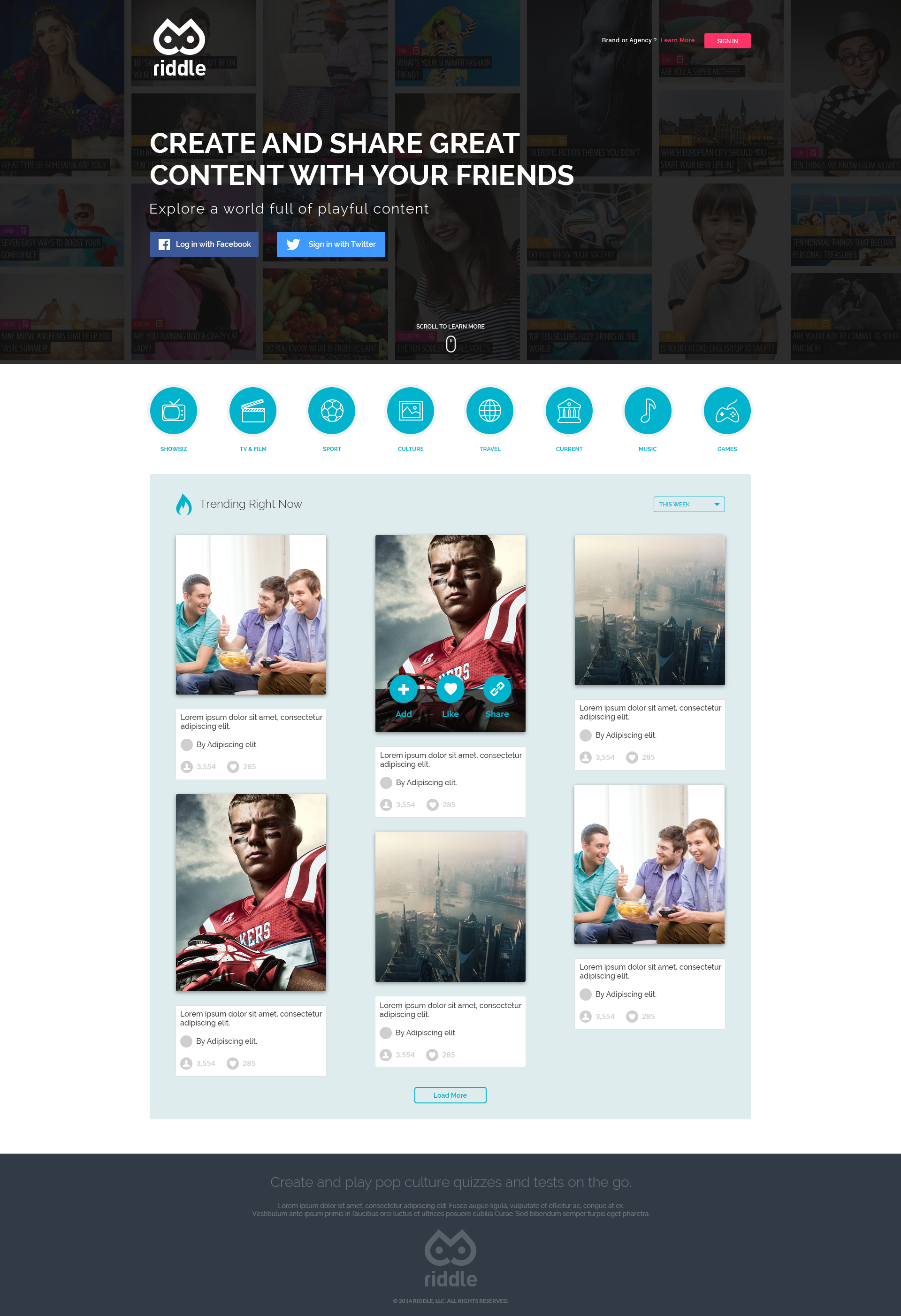 Create a leading landingpage for our brand new Web App!
