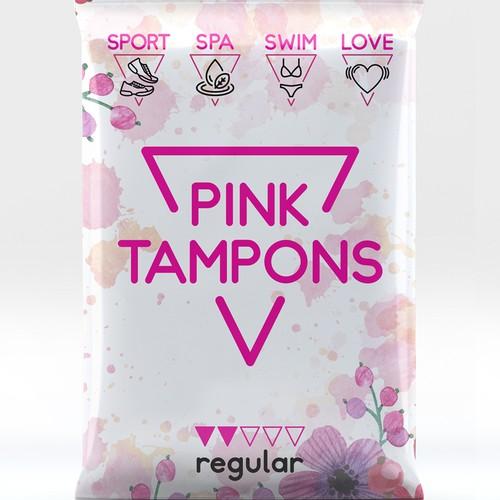Pink Tampons Packaging