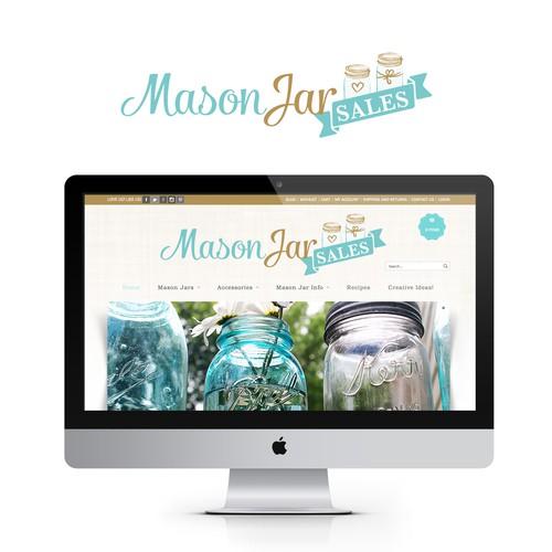 Create a beautiful & vintage logo for MasonJarSales.com.au