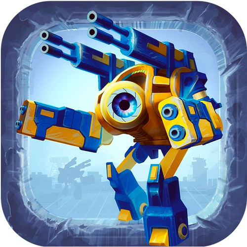 icon for a iOS game Mechs battle