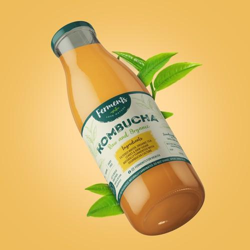 Kombucha - Label Design